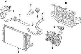 parts com® chrysler hose radiator outlet partnumber 5058998af 2007 chrysler sebring touring l4 2 4 liter gas radiator components