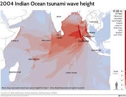 tsunami wave height n ocean disaster