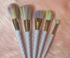 unichorn makeup brushes 5 piece set