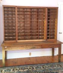 Antique Storage Cabinets Antique Post Office Sorting Desk Apothecary Cabinet Vintage