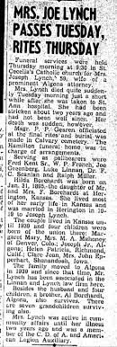 Obituary for Hilda Lynch - Newspapers.com