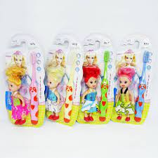 Bàn chải đánh răng cho bé gái hình gấu Bijie 077 tặng Búp bê đồ chơi hàng  Thái Lan - 19,000