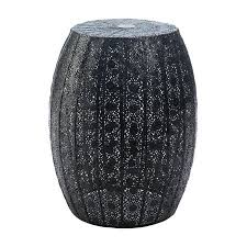 black garden stool. Perfect Stool Garden Stool Metal Black Moroccan Lace Decorative Portable Patio  Stool And