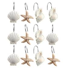 new 12 pcs decorative seas shower curtain hooks bathroom beach throughout sizing 1000 x 1000