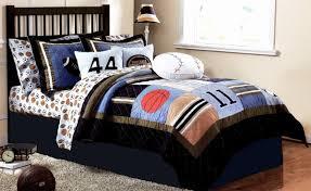 simple boys bedroom with twin 2 piece basketball blue patchwork boys bedding sets dark espresso