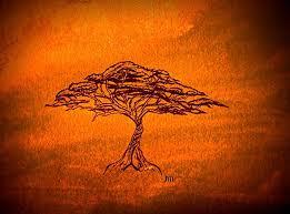 gold acacia tree print african art african print gold gift gold housewarming