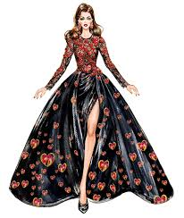 Pinterest Fashion Design Sketches Inspired By Elie Saab Couture Illustration By Sunny Gu Get