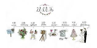 Wedding Schedule Illustrated Wedding Schedule Forages Finds