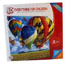 real 3d hot air balloon jigsaw puzzle set children play toy wall decoration