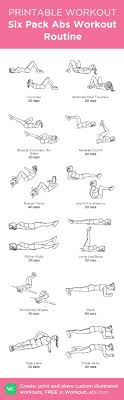 Six Pack Abs Workout Chart Six Pack Abs Workout Routine 8 Best Workout Routines For