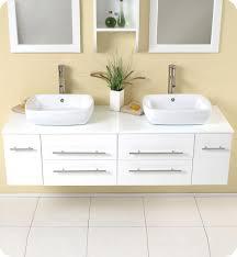 2 sink bathroom vanity. Fresca Bellezza White Modern Double Vessel Sink Bathroom Vanity 2