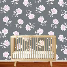 rose wall decal rose gold vinyl wall decal