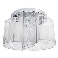 chrome chandelier lamp light ceiling flush mount fixture home living room decor