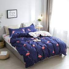 twin size duvet covers hot blue purple flamingo bedding sets velvet duvet cover sets king