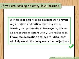 what to write in resume objective how to write resume objectives with examples wikihow