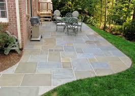 flagstone patio backyard