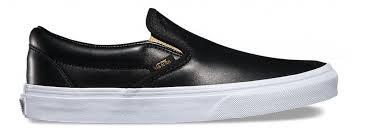 women best vans classic slip ons metallic gore black gold trainers