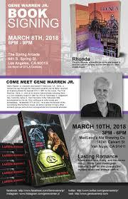 book signing flyer gene warren jr book signing dtla rendezvous