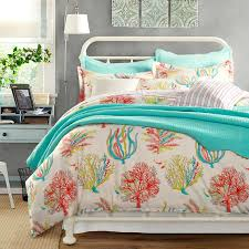 Nursery Beddings Aqua Comforter Sets Aqua And Yellow Comforter ... & 25 Best Coral Bedspread Ideas On Pinterest Coral Dorm College For Coral  Color Comforter Sets Plan ... Adamdwight.com