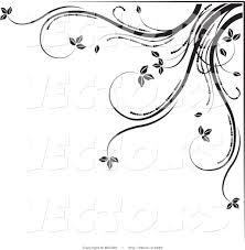 free flower border template vector of black and white fl corner border design element