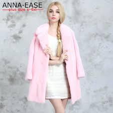 faux fur pink jacket winter plus size faux fur coats women long pink fur coat las mink coat rabbit fur coat elegant women winter jacket by