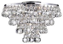 bathroom lighting and tranquil crystal bubble and chrome flush mount chandelier