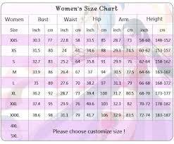Size Chart Measurement Guide Webcosplay Cosplay Costumes