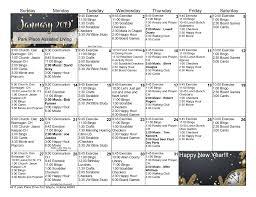 January 2019 Assisted Living Calendar | Park Place Senior Living