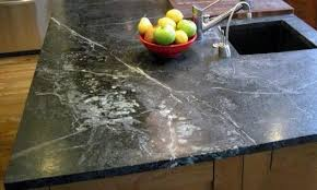 oiled soapstone showing the light gray veins typical of the material this eye catching installation by shadley s soapstone