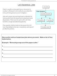 Job Safety Analysis Template Free Amazing 48 List Osha Job Hazard Analysis Blank Form Azserver