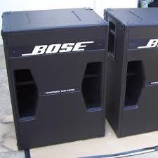 bose pa. bose 302 ii tandem tuned bass system pa s