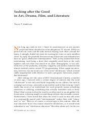 mythology essay homeric s hymn to demeter mythology in the 16 pages anderson seeking after the good in art drama film and literature 1
