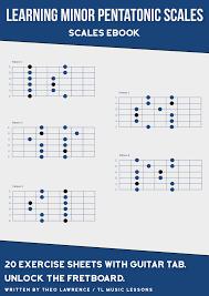Guitar Pentatonic Scales Chart Pdf Learning Minor Pentatonic Scales Ebook In 2019 Guitar