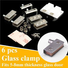 stainless steel glass pivot door hinges clamps