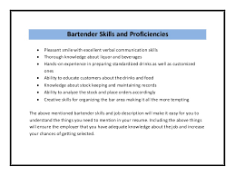 Type My Essay Online High Quality 100 Secure Bartender Resume