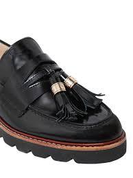 stuart weitzman 20mm manila brushed leather loafers black women shoes stuart weitzman pumps patent leather