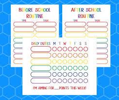 Chore Chart Printable Reward Chart Behavior Chart Etsy