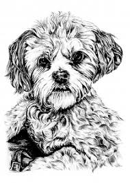 Small Picture Dog Coloring pages for adults JustColor