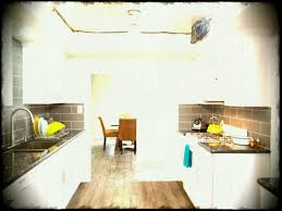 White Country Galley Kitchen Intended For Striking The Crisp And
