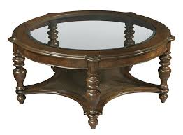 furniture 2 vintage round coffee table hekman tables glass top shelf