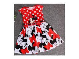 Stylové Dívčí šaty S Minnie Mouse Lunzocz