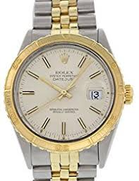 men s certified pre owned watches rolex datejust automatic self wind mens watch 16253 certified pre owned