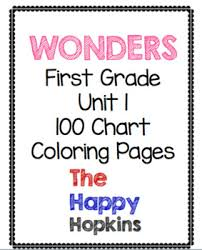 100 Chart Coloring Pages Wonders First Grade Unit 1 100 Chart Scavenger Hunt