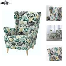 ikea strandmon wing chair high back gillholv multicolour stool not included