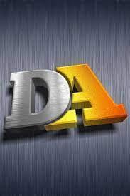 3d Name wallpaper letter DA |