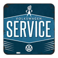 Nostalgic Art Metal Coaster Volkswagen Service Retro Logo ...