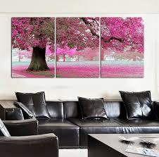 Modern Painting For Living Room New Oil Painting On Canvas Pink Cherry Blossom Large Modern Wall