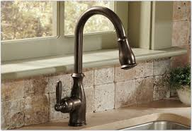 image of bronze kitchen sink faucets