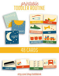 Toddler Routine Chart Toddler Routine I 48 Cards I Visual Routine I Daily Routine Chart I Morning Afternoon Night Routine Cards I Bedtime I Kids Evening Routine