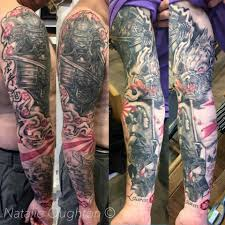 My Japanese Sleeve Finished Natalie Oughton Queen Of Hearts Tattoo